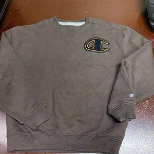 Champion Mens Logo Pullover Sweatshirt Size Large